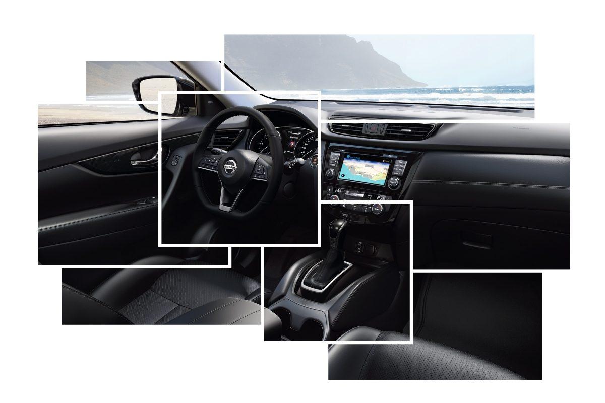 مقصورة القيادة والتصميم الداخلي لسيارة نيسان أكس-تريل