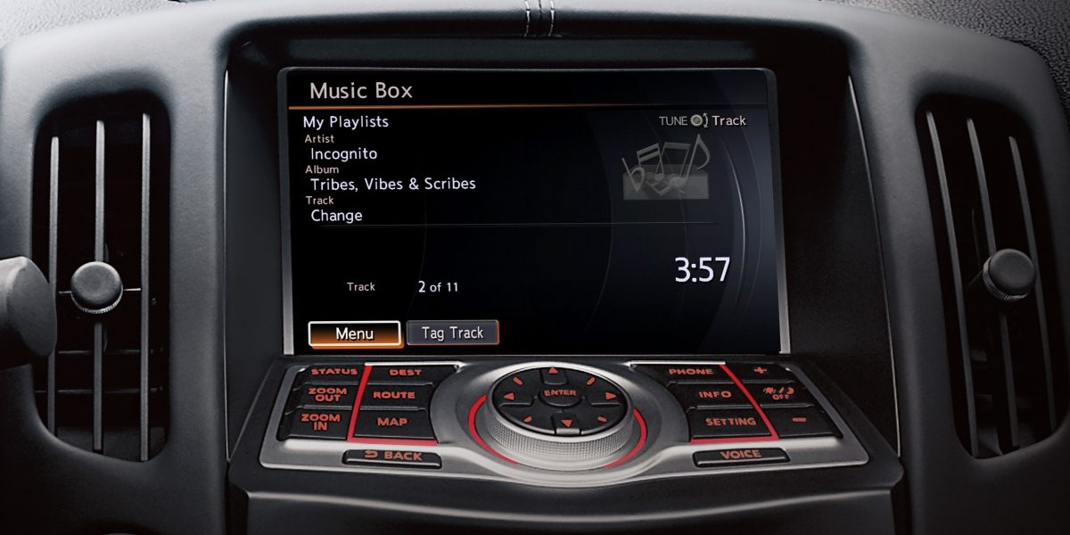 370Z نظام ميوسك بوكس لتنظيم الموسيقى خاصتك في سيارة نيسان