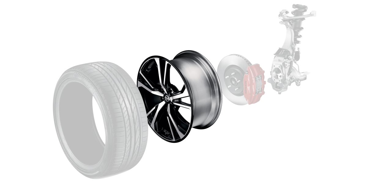 370Z عجلات من سبائك مطروقة مقاس 19 بوصة في سيارة نيسان