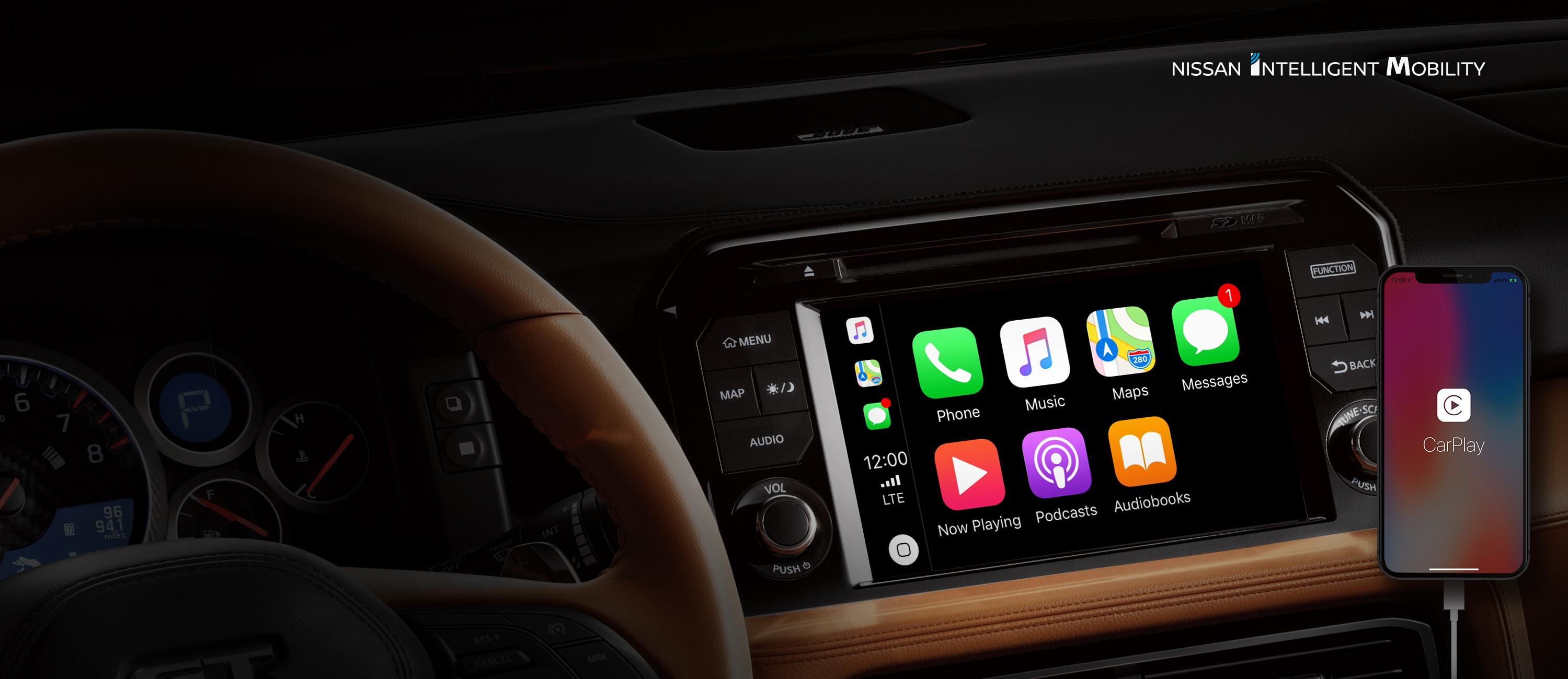 2020 Nissan GT-R Apple CarPlay Display