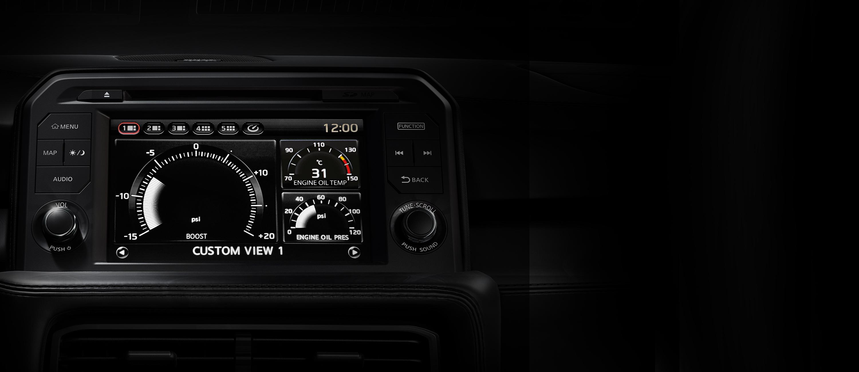 Nissan GT-R display screen
