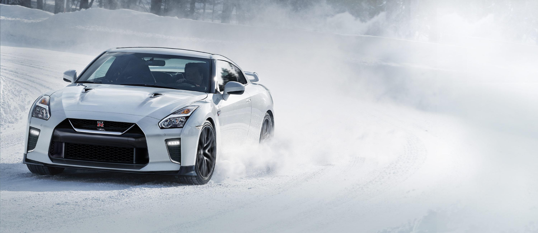 Nissan GT-R in snow