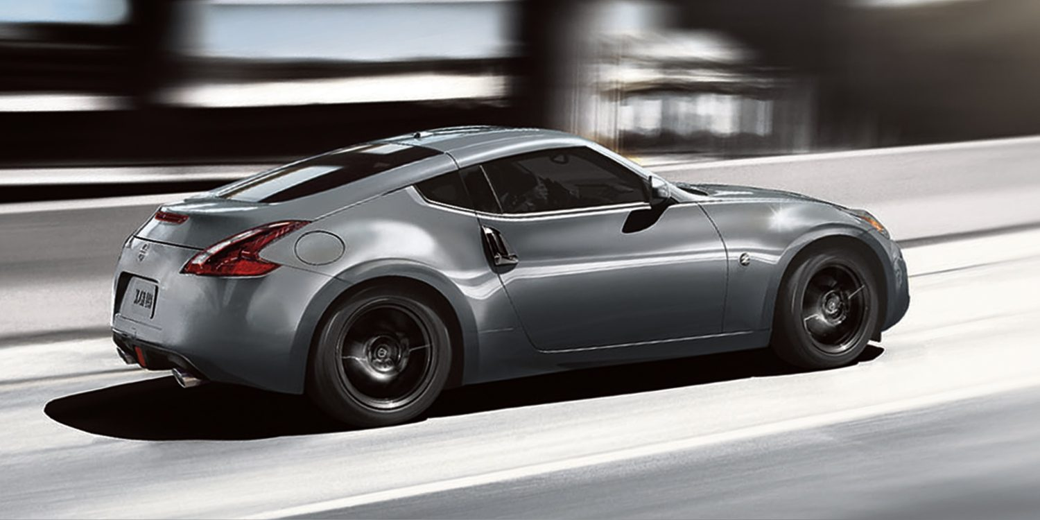 Nissan 370Z driving on highway