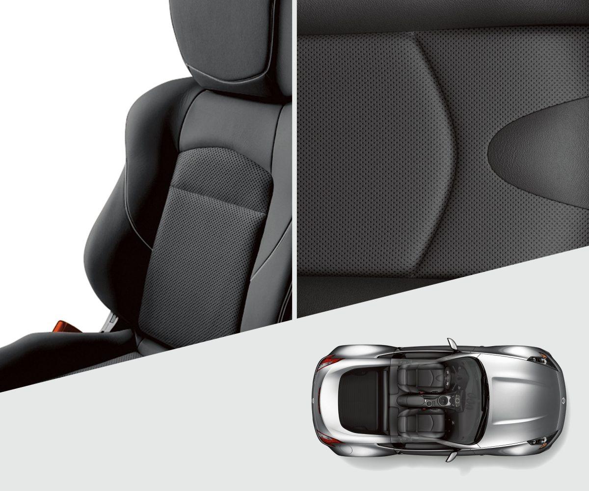 370Z مقاعد رياضية جلدية سوداء في سيارة نيسان