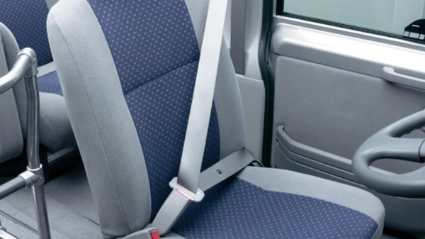 blue civilian seat belt