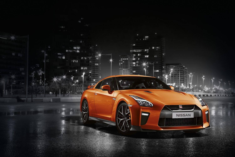 orange gt-r exterior