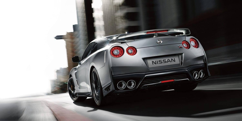 grey gt-r rear exterior