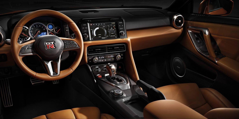orange gt-r dashboard interior