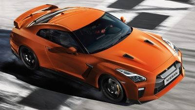 orange gt-r hood exterior