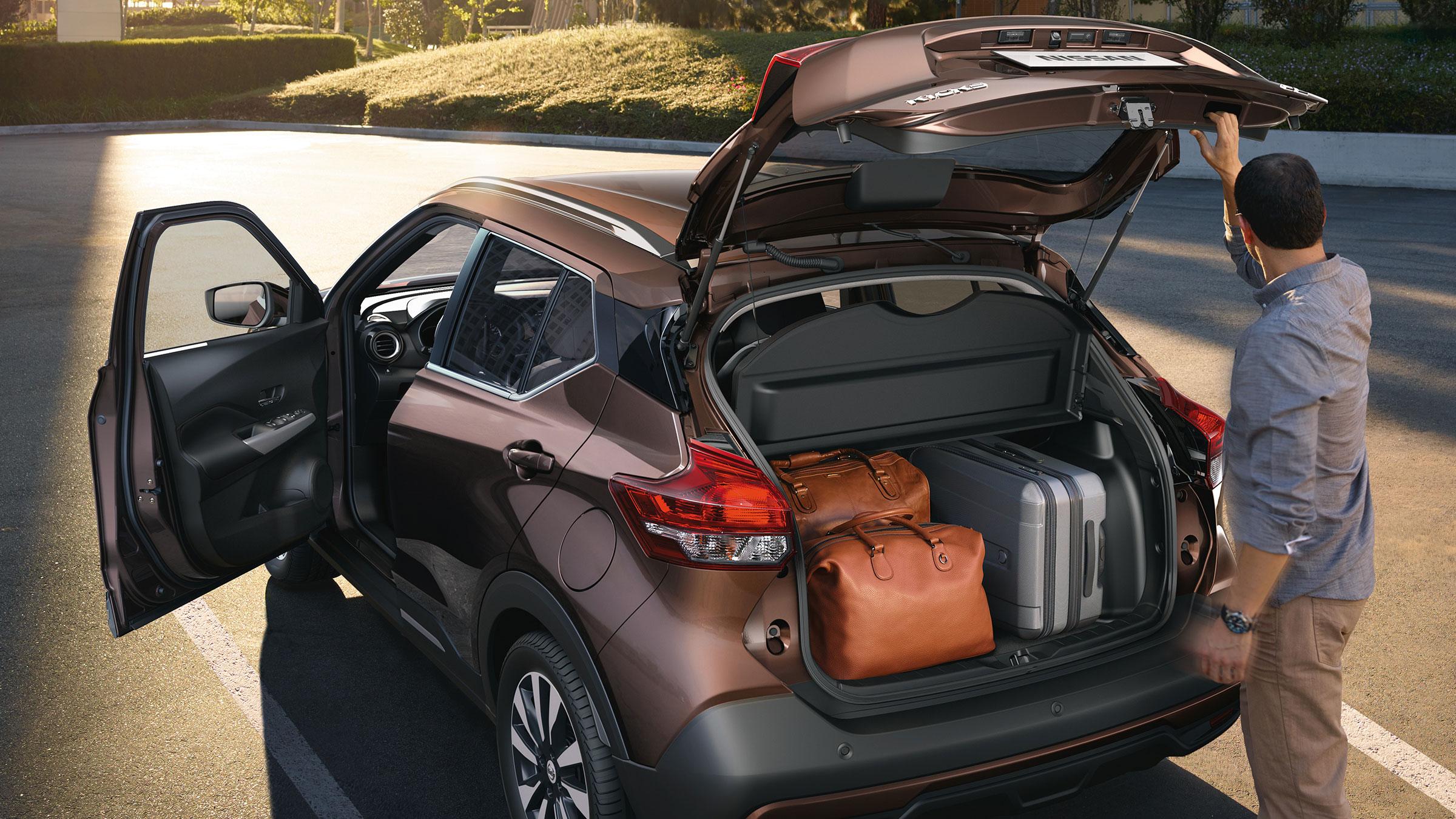 مساحة تحميل أمتعة في سيارة نيسان كيكس