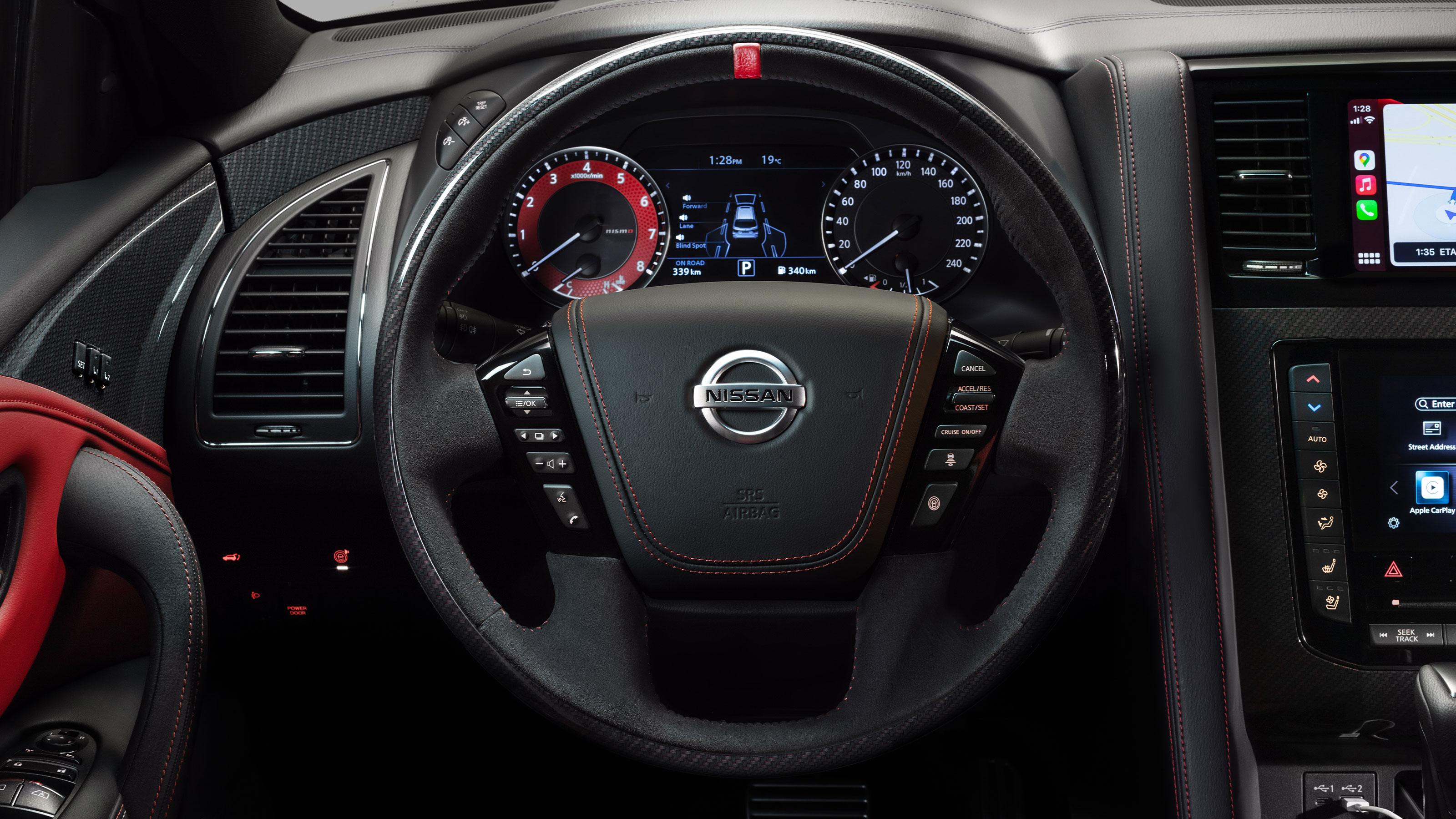 Nissan PATROL NISMO interior dashboard