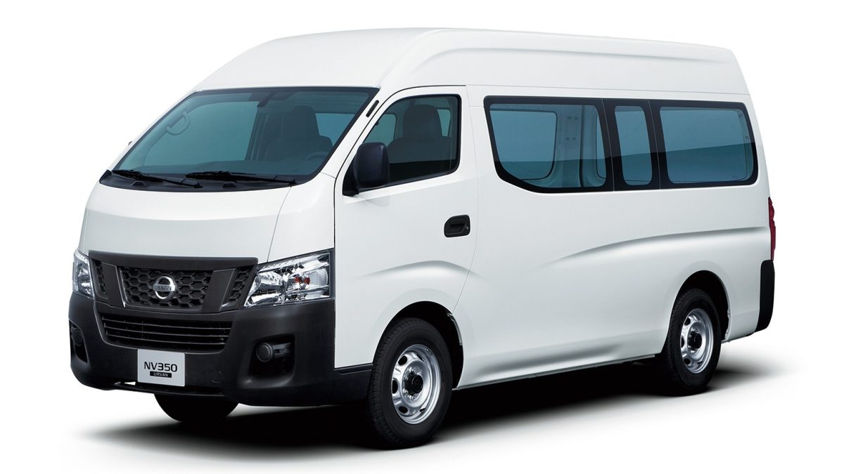 Nissan urvan white exterior long body