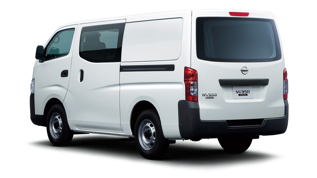 Nissan urvan white rear closed window