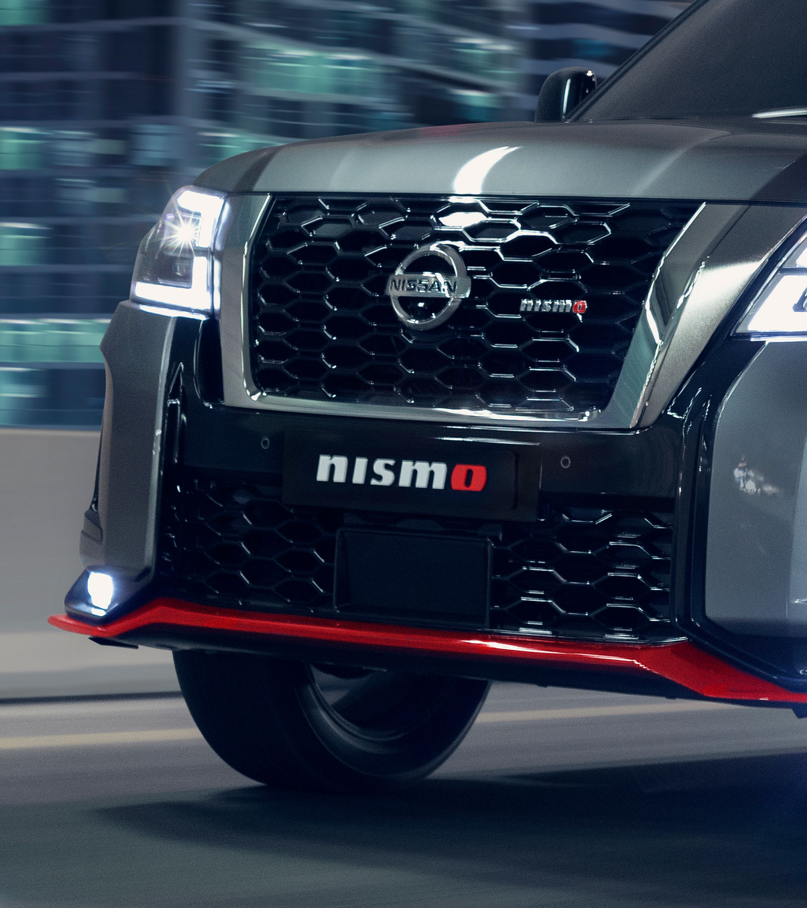 Nissan PATROL NISMO front shot on the highway road