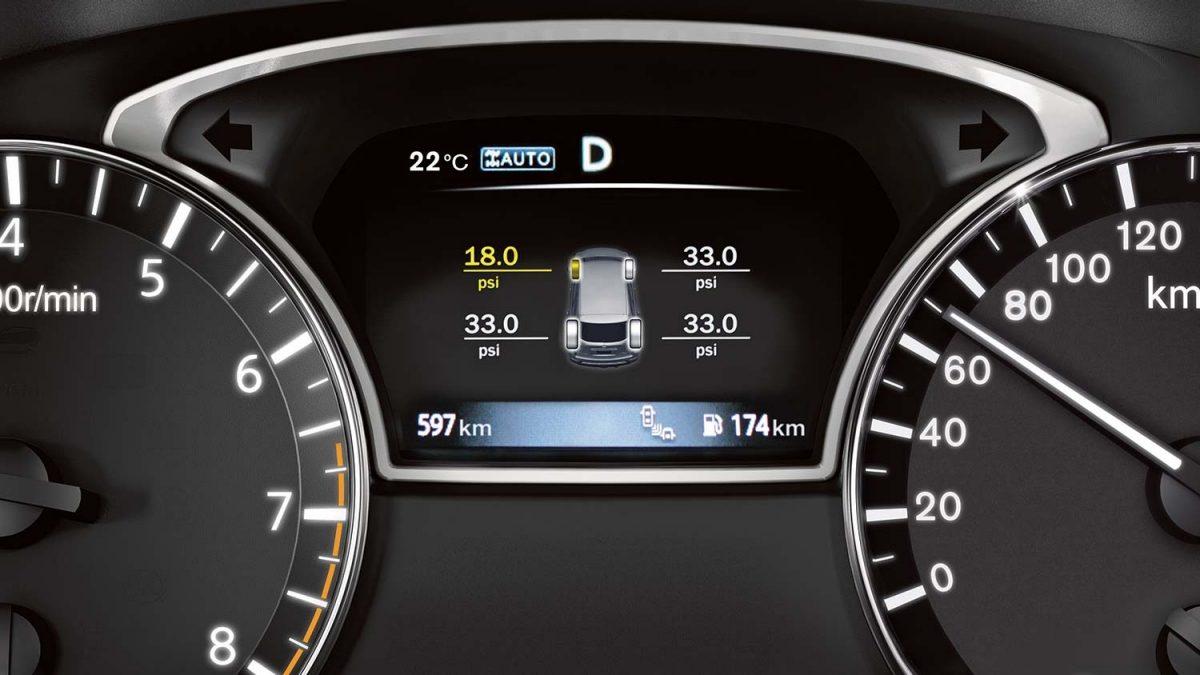 شاشة توضح توزيع عزم الدفع الرباعي في سيارة نيسان باثفايندر