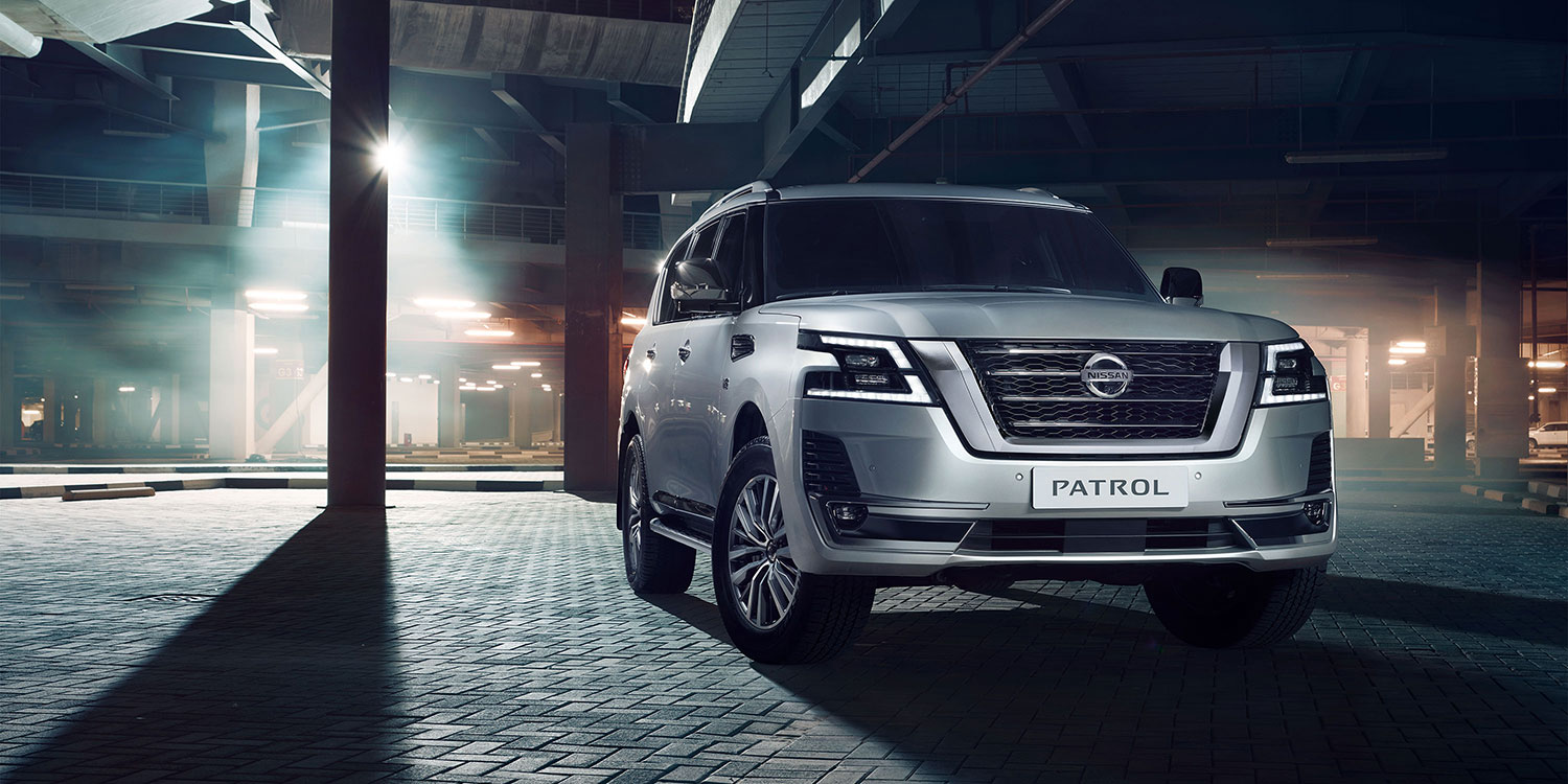 2020 NISSAN PATROL parked in a building structure
