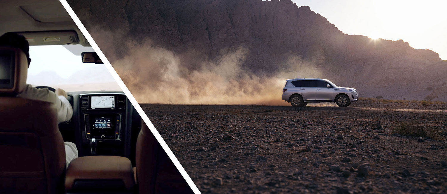 Man driving a 2020 NISSAN PATROL on a rocky road