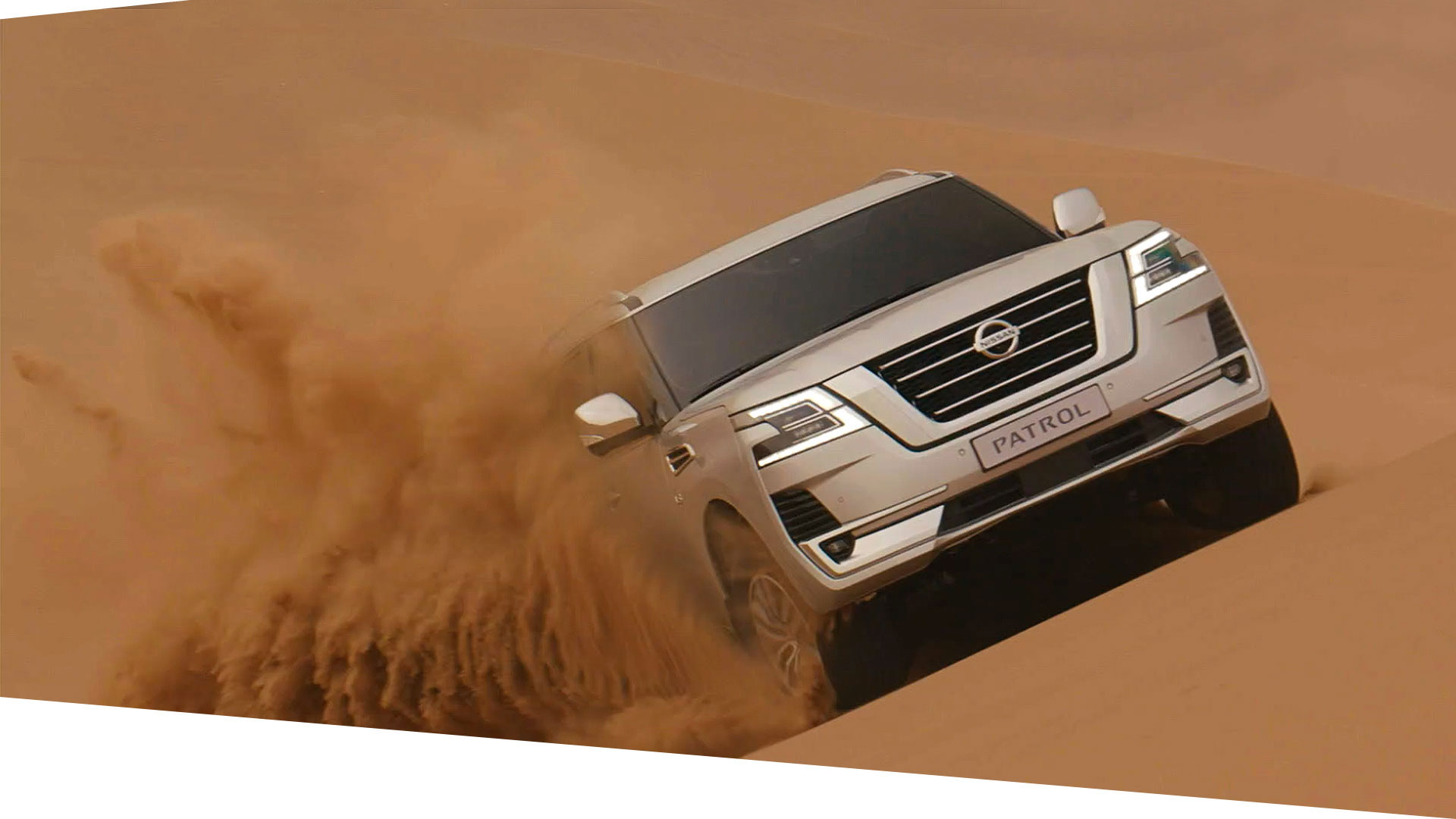 2020 Patrol Nissan SUV dune-bashing in desert