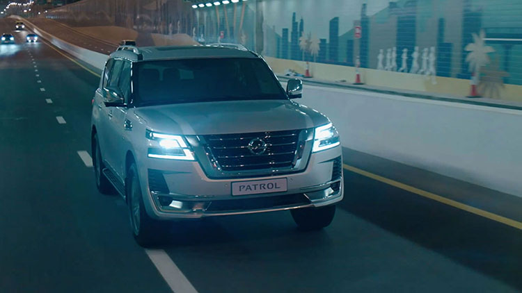 2020 NISSAN PATROL driving in city tunnel