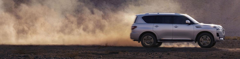 2020 NISSAN PATROL on a desert road