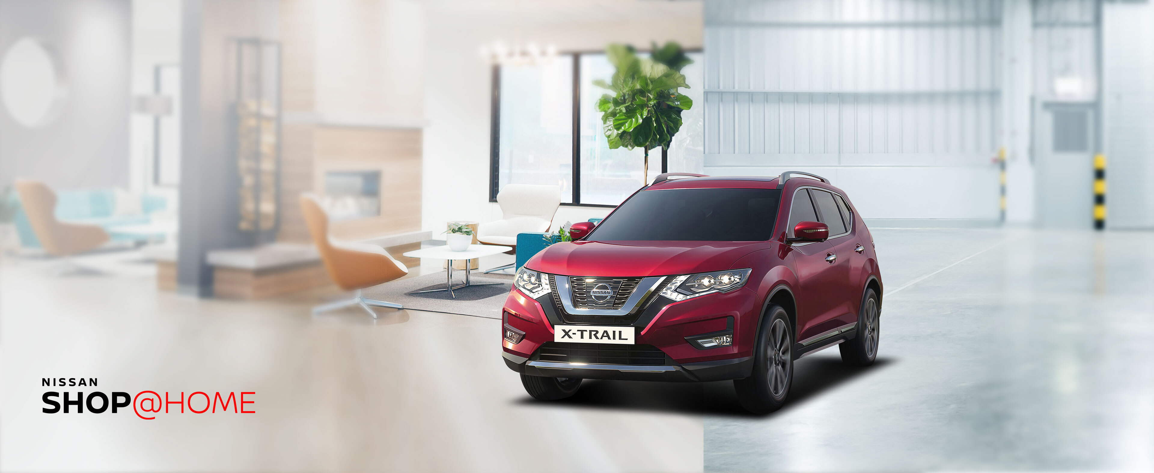 red Nissan X-trail