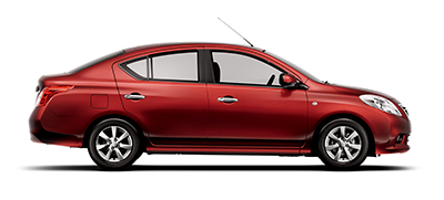 Red Nissan SUNNY car