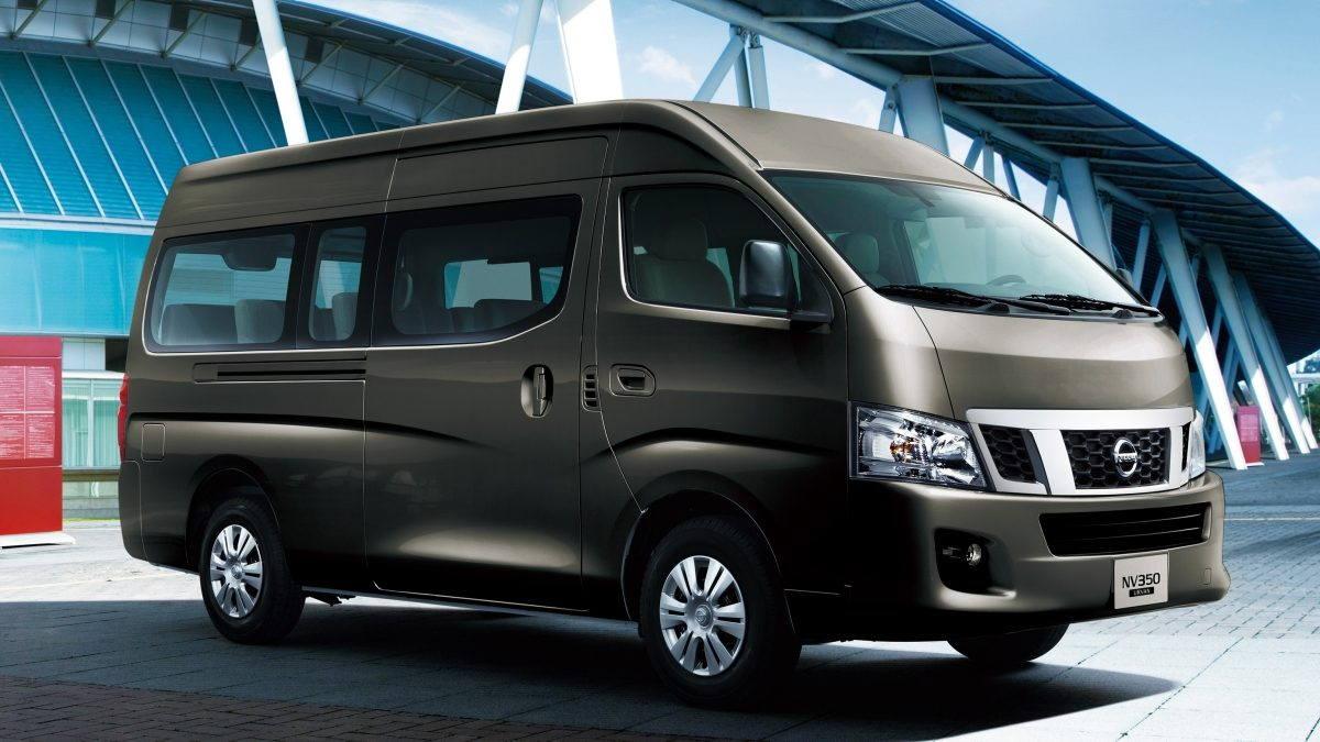 black Nissan Urvan exterior