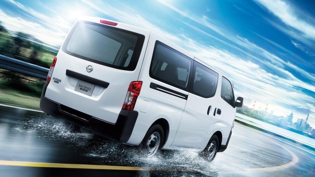 white Nissan urvan exterior