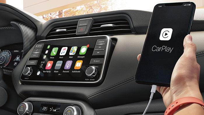 لسيارة نيسان صني CarPlay خاصية
