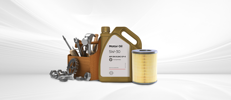 Motor oil & car tools